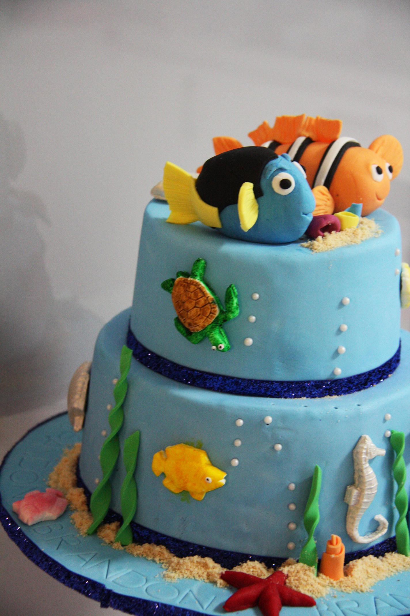 Nemo Cake - Nemo fish birthday cake