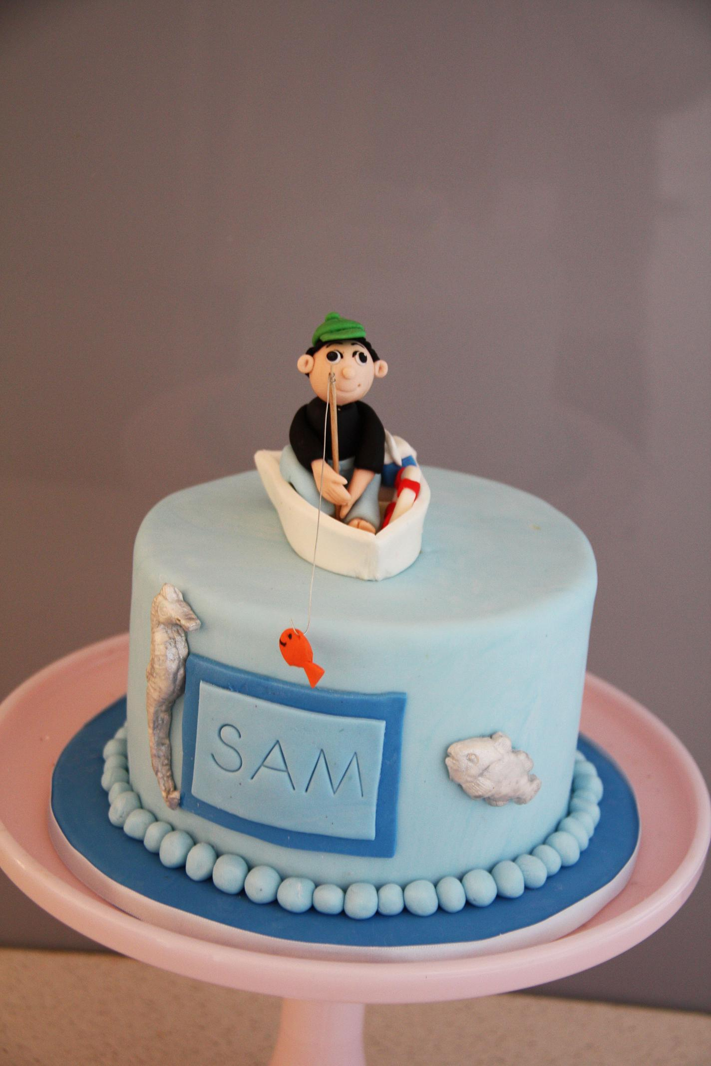 Sams Fishing Birthday Cake