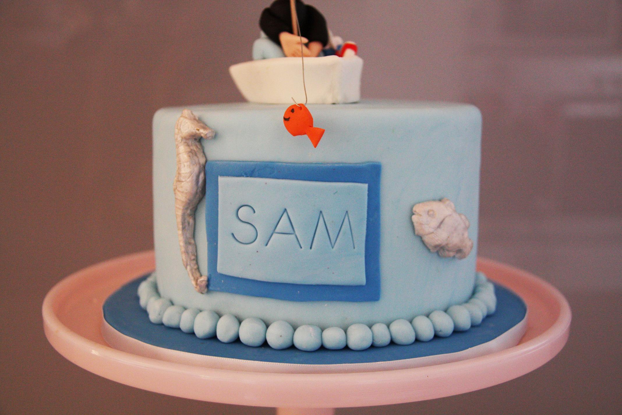 Sam S Fishing Birthday Cake